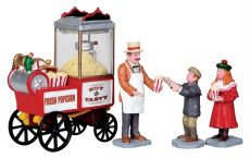 Popcorn Seller, Set Of 4